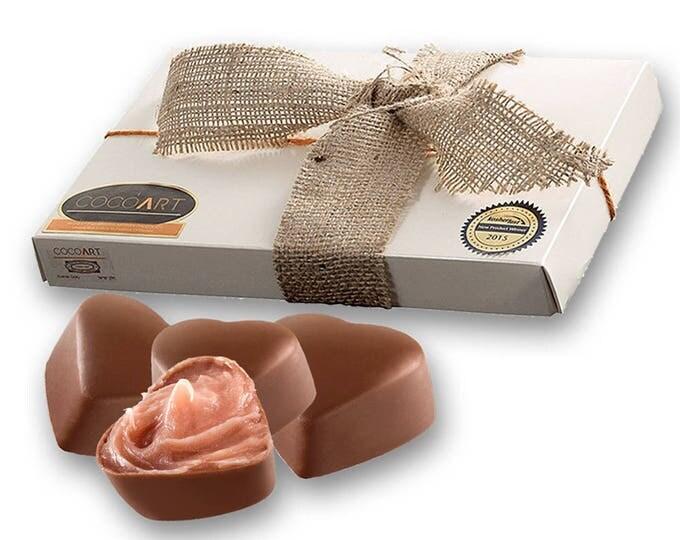 Strawberry Chocolate Truffle, Chocolate Strawberries, Strawberry, Heart Shaped, Gourmet Chocolate, Gourmet Gift, Gourmet Food