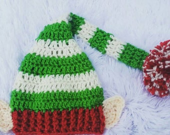 Elf Hat // With or Without Ears // Colors Customizable // Decals Optional