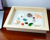 Beach Therapy Tray - Wooden Tray and Sand - Desktop Beach - Miniature Zen Beach for Home or Office