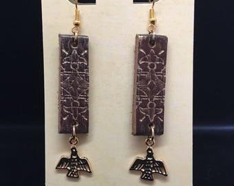 Egyptian themed earrings