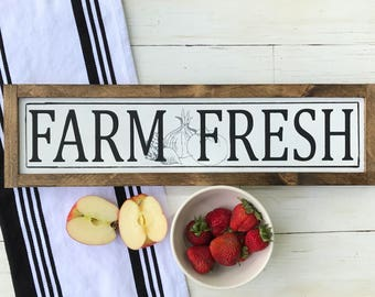 Farm Fresh Sign   Farmhouse Sign   Farmhouse Kitchen Sign