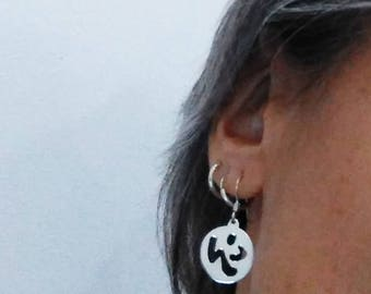 handmade earrings for sportsmen, for lovers zumba