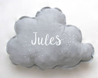 Customizable linen cloud cushion. Kids capsule collection