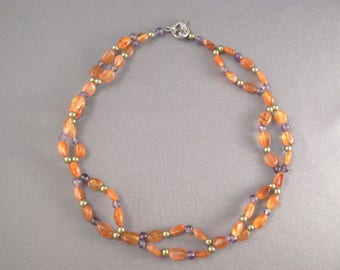 Braided Orange Necklace