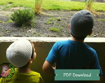 Fair And Simple Kufi, PDF Download, Crochet Pattern, Crochet Tutorial, Muslim Kufi, Muslim Prayer Cap, Topee, Topi, Kufi, Ramadan, Eid