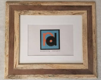 Spalted Ambrosia Maple and Walnut Picture Frame 8x10