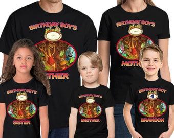 Dinosaur Train Shirt Custom Name & Age Personalized Dinosaur Train Birthday Shirt Family Birthday Shirts