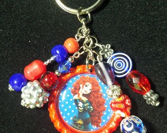 Brave beaded keychain