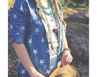 SALE - Star Spangled Button Up - 30% off