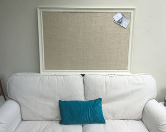 Hessian pin board. Hessian bulletin board. Hessian memo board. Hessian message board. White pin board. White cork board. Fabric notice board