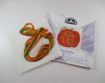 Embroidery Kit, Kit cross stitch, pumpkin, DMC, Mini Collection