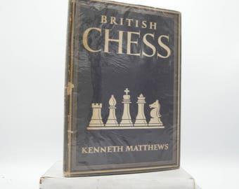 British Chess by Kenneth Matthews (Vintage, Sport)