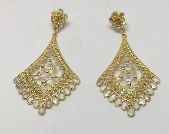 White topaz sterling silver earring