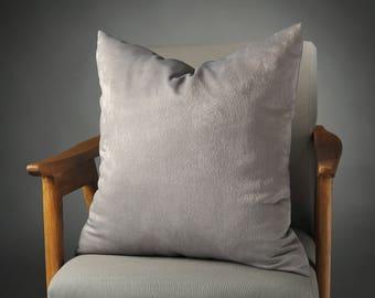 Gray Pillow, Grey Velvet Pillow, Grey Velvet Pillow Cover, Grey Velvet Decorative Pillow, Grey Velvet Couch Pillow, Gray Velvet Bed Pillow