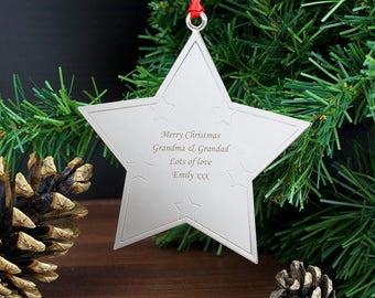 Christmas Decoration, Personalised Tree Decoration, Star Decoration, Christmas Tree, Tree Decoration, Personalised Decoration, Christmas