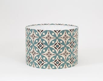 Elmas Golden Yellow and Charcoal Grey Lampshade - 30cm Diameter - Blue and Grey Lampshade - Elmas Lamp Shade - Geometric Lampshade
