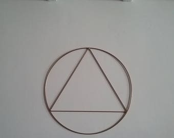 Shape round - design wall Sculpture - metal wall decor, model Triangle / hand made in France