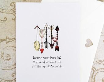 Adventure card, encouragement card, milestone card, travel greeting card, congratulations graduate card, birthday card, good luck card