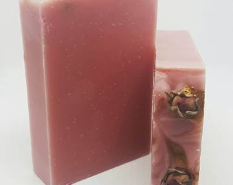 Roses Are Red Soap- Rose Soap, Natural Soap, Homemade Soap, Handmade Soap, Scented Cold Process Soap, Scented Soap, Vegan Soap