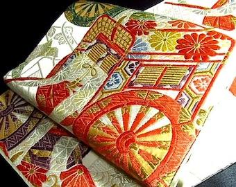 Japanese Silk Obi of  Happy pattern