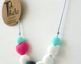 Breastfeeding or teething necklace. Teething necklace. Silicone Bead Teething Jewellery. MOD.6