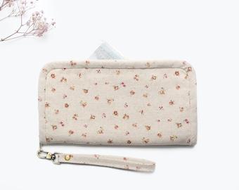 Wallet for Women - No.1 | Flower Wallet | Fabric Wallet Handmade | Gift for Her | Long Wallet | Zipper Wallet | Cell Phone Wallet .