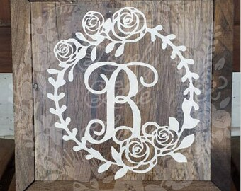 Initial Letter wooden sign