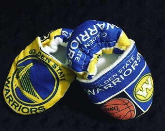 Golden State Warrioes Crib Shoes / Slippers