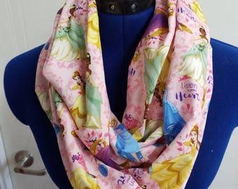disney - princess - belle - beauty - and - the - beast - tiana - Cinderella - rapunzel - infinity  - scarf