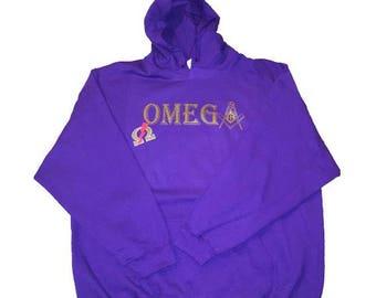 Omega Psi Phi (Masonic Emblem Hoodie)