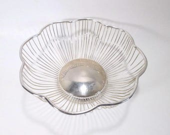 Silver Plated Scalloped Wire Basket  Royal Limited