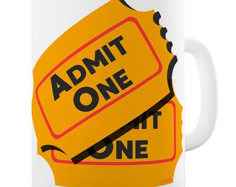 Admit One Ticket Ceramic Mug