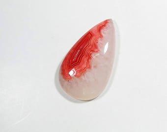 Rhodochrosite Quartz Cabochon Gemstone Pear Shape Natural Top Quality Rhodochrosite Quartz For Jewelry Making 53Cts 41X23X8mm