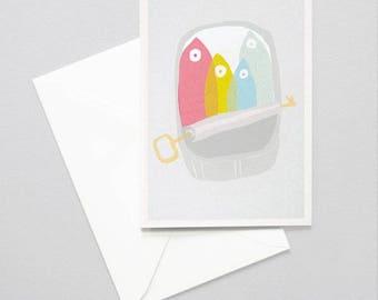 Greeting card - sardines