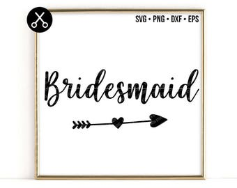 Bridesmaid svg - wedding svg - Bride Tribe svg - groom svg - svg dxf eps cut file - silhouette - cricut - cutting machine
