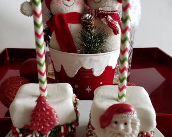 Christmas Marshmallows, Stocking Stuffers, Holiday Gift