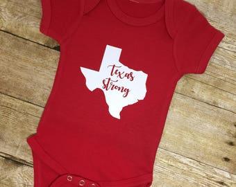 Texas Strong Onesie Texas Bodysuit Gender Neutral Baby Clothes Newborn Onesies Baby Shower Gift Texas Baby I Love Texas Baby Gift