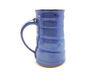 Pottery coffee mug, ceramic mug, blue glaze, coffee mug, tea cup, pottery mug, stoneware mug, handmade mug, blue mug, blue pottery