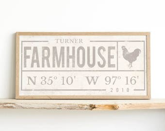 Rustic Decor Ideas - Personalized Gift - Personalized Name - Fixer Upper House - Farmhouse Decor Print - Farmhouse Style - Farmhouse Decor