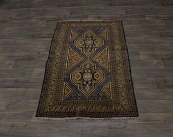 Exceptional Foyer Tribal Handmade Balouch Persian Rug Oriental Area Carpet 3'8X6