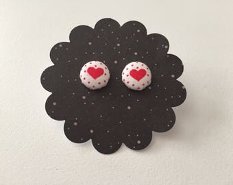 Lovely fabric earrings 12mm