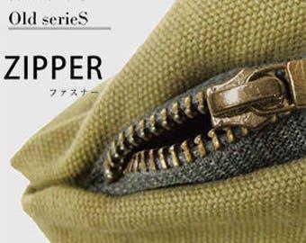 7.8 inch Japanese YKK Old scricS cotton touch metal fastener Zipper | Japanese accessories | 20cm