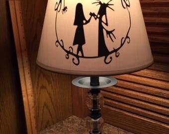 Nightmare Before Christmas inspired lamp.