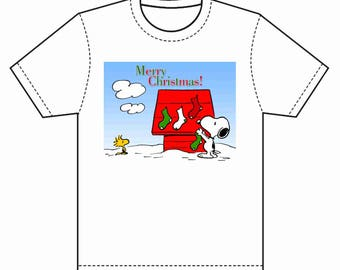 INSTANT DOWNLOAD Snoopy Christmas T-Shirt Transfer Instant Download & Print