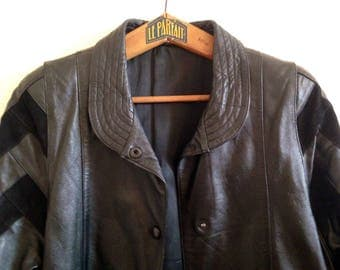 The leather and suede 80 s jacket