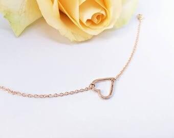 4 x soft strap ROSÉ GOLD heart: Girlfriend