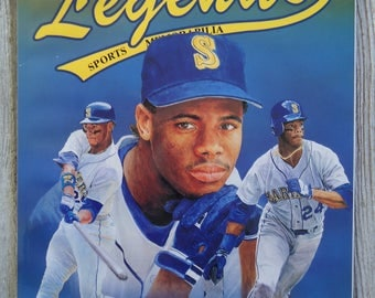 Ken Griffey Jr 1991 - Vintage Legends magazine - Ken Griffey Jr gift - Vintage baseball - Sports gift, Paper Ephemera, Sports memorabilia