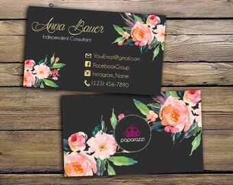 Paparazzi Business Cards - Paparazzi Jewelry Consultant - Paparazzi Punch Card - Consultant Card