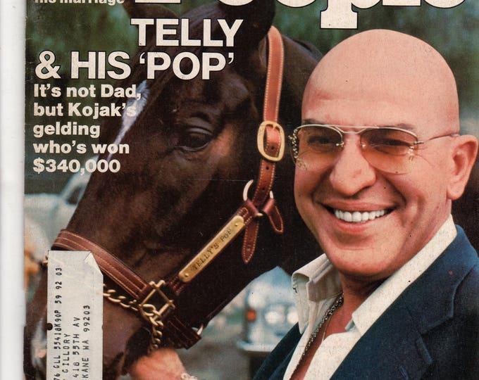 Kojak Telly Savales People Magazine April 19, 1976 with label