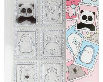 Clear stamps - Stamp Set to ride - stamps stamps - stamp bears - cat rubber stamp - T10040063